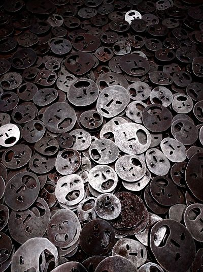 Backgrounds No People Textured  Close-up Full Frame Day First Eyeem Photo Jewes Museum Pain Faces Anonymous Death Iron Blackandwhite