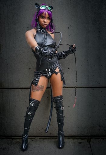 Catwoman Cosplayer Cosplay Nycc2018 NYCC Catwoman One Person Women Portrait Full Length Fashion Front View Standing Young Women Looking At Camera Arts Culture And Entertainment Beautiful Woman