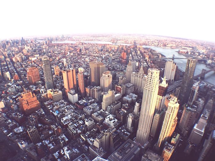 NYC from above NYC NYC Photography Aerial Shot High Angle View Wide Angle City Cityscapes Urban Manhattan Building Golden Hour