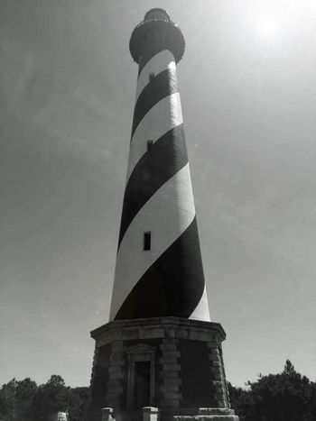 Architecture Building Built Structure Day Enjoying Life EyeEm Nature Lover Hanging Out Hello World Lighthouse Low Angle View No People Outdoors Outer Banks, NC Relaxing Sky Taking Pictures Tall - High Travel Destinations Cape Hatteras Lighthouse