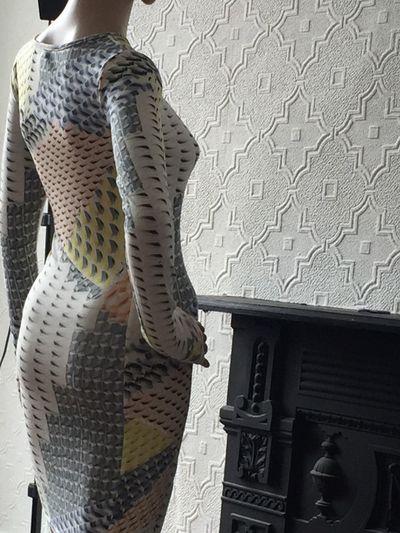 Woman Body Slim Figure Fireplace