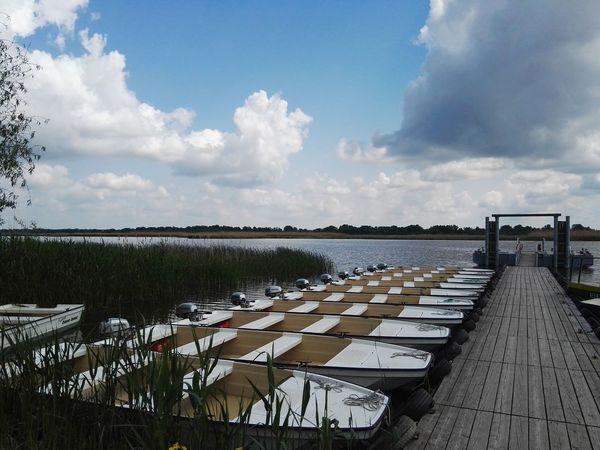 Cloud - Sky Water No People Nature Outdoors Lake Sky Boats Hondamotor Pier Sunny HuaweiP8 Lake View