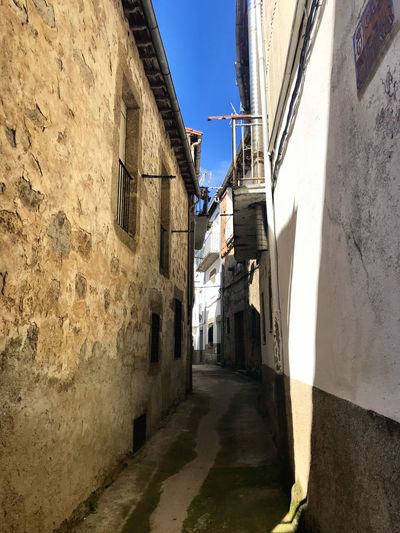 Architecture Building Exterior Built Structure Building Alley The Way Forward Narrow City Wall - Building Feature Direction Residential District Day Shadow No People Town Wall Sky Nature Sunlight Clear Sky Outdoors