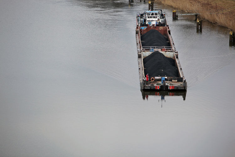 Shipping Industry Transportation Canal Canals And Waterways Day High Angle View Mode Of Transportation Nature Nautical Vessel No People Outdoors Ship Shipping  Tranquility Transportation Water