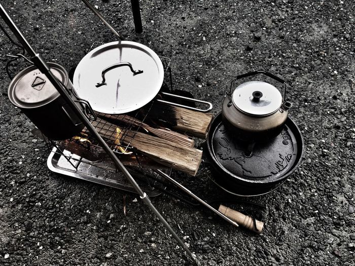 炊事道具とピコグリル。100均の