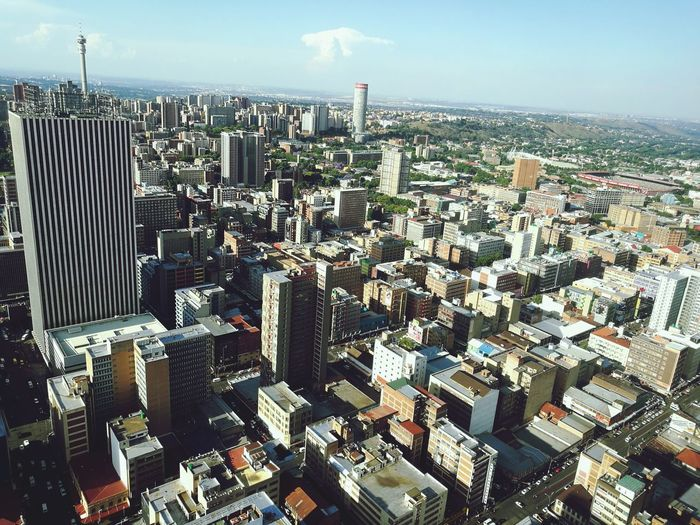 My home town... Johannesburg Top Of Africa Carlton Centre Views Skyscrapers Head In The Clouds Aerial View Cityscape Urban Skyline CBD