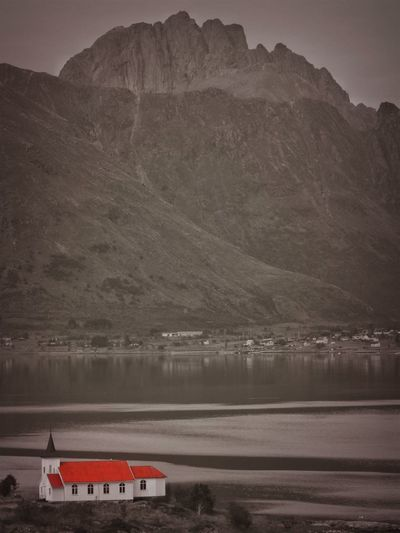 Lofoten Islands Norway Architecture Beauty In Nature Black And Red Colour Day Formation Idyllic Lake Mode Of Transportation Mountain Mountain Range Nature Nautical Vessel No People Non-urban Scene Outdoors Red House Reflection Scenics - Nature Tranquil Scene Tranquility Water Waterfront
