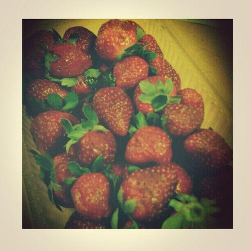 strawberries. Food Fruits Bittersweet Yummy happykid