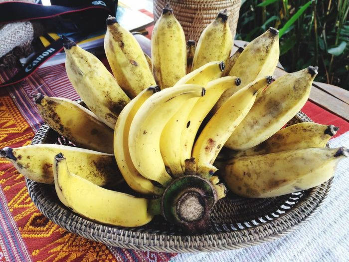 Fruit Banana Healthy Eating Food And Drink Food Freshness Table Indoors  No People Close-up Yellow Banana Peel Ready-to-eat Day Yellow Thaifruit first eyeem photo