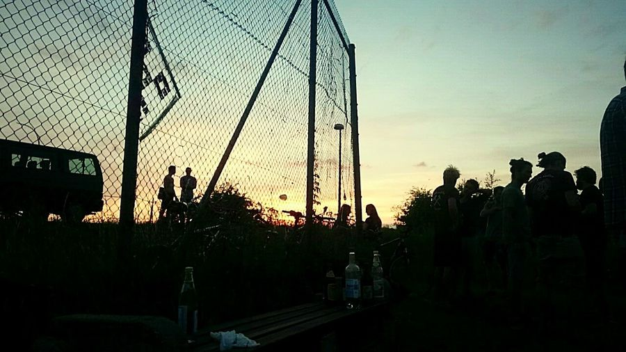 Silhouette Sunset Outdoors Sky Nature People Hanging Out Enjoying Life View Good Day Out Young Adult