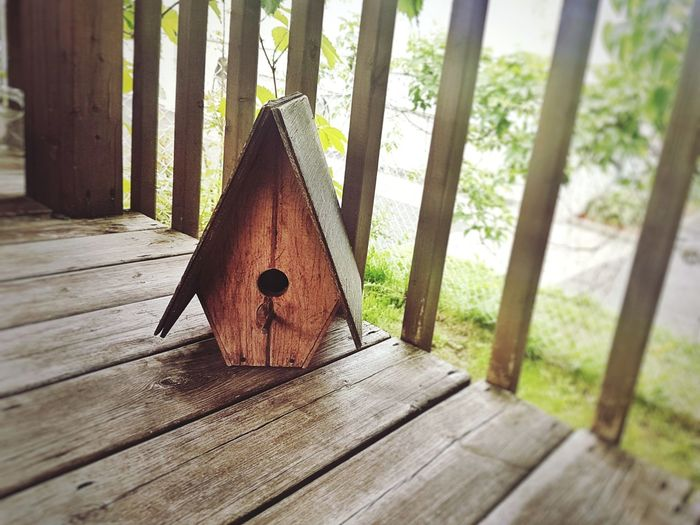A bird does not live here. A bumblebee does... Backyardphotography Appreciate The Little Things In Life In My Garden Wooden Structure A-frame Wood - Material Close-up Wooden Birdhouse Beehive Wood The Still Life Photographer - 2018 EyeEm Awards The Architect - 2018 EyeEm Awards