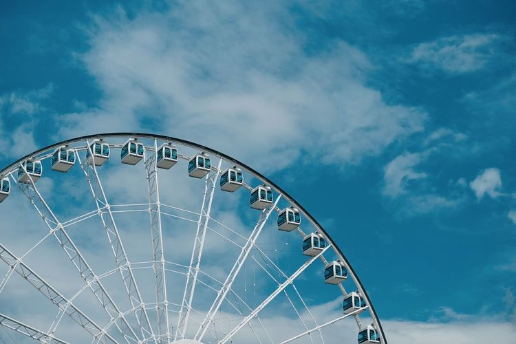 Observatory Wheel. Cloud - Sky Sky Ferris Wheel Outdoors First Eyeem Photo