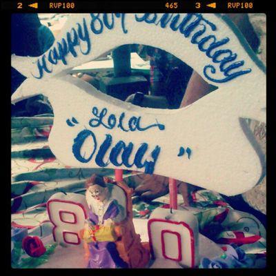 Happy 80th Birthday Lola! Birthday Granny LongLive ♥ Cake Food Sweet