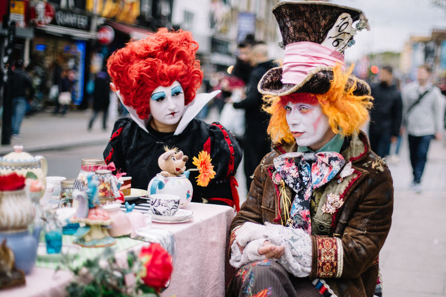 LONDON❤ London London Lifestyle Mad Hatter Postcode Postcards United Kingdom Mad Hatter Tea Party Real People Camden Town Camdenmarket Camden Market, London Be. Ready. This Is Masculinity Stories From The City