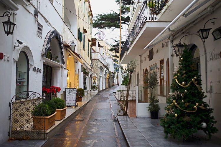 In the streets of Capri Italy