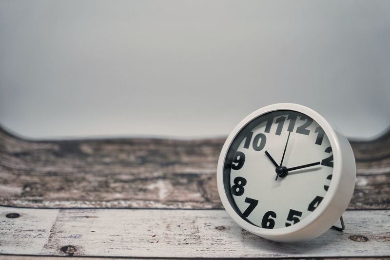 Clock Clock Face Clock Hand Close-up Copy Space Day Deadline Hour Hand Indoors  Instrument Of Time Minute Hand No People Number Retro Styled Single Object Time Urgency Wall - Building Feature White Color
