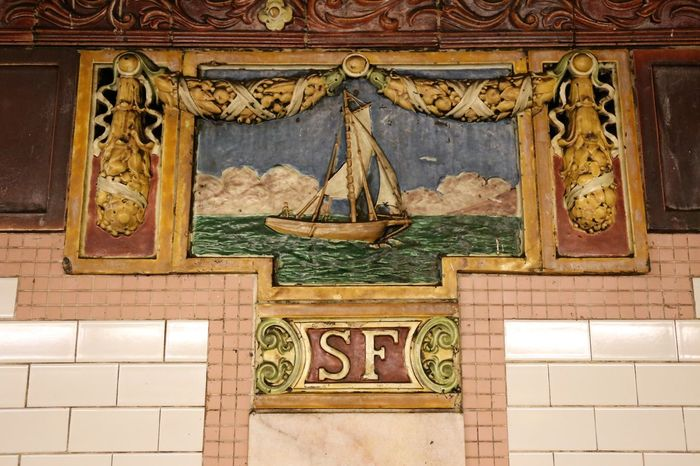 Mosaic of South Ferry Station (NYC Subway) NYC Subway Adventures NYC Subway NYC Subway Station Sign South Ferry Station Whitehall Street Station Architecture Built Structure Close-up Day History Indoors  Mosaic Art No People Nyc Subway Photgraphy Nyc Subway Sign Nyc Subway Station Nyc Subway Views Place Of Worship Sailing Ships Travel Destinations