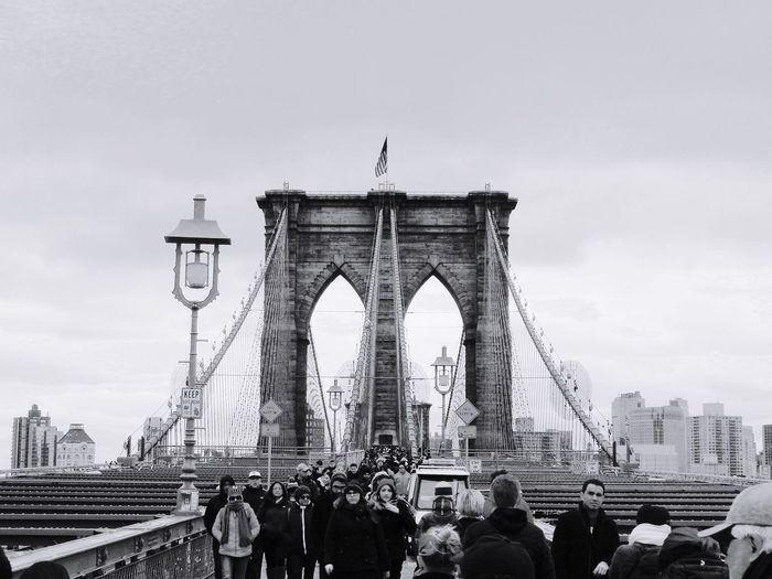 NYC NYC Photography Brooklyn Bridge / New York Blackandwhite Winter New Year Around The World Architecture First Eyeem Photo