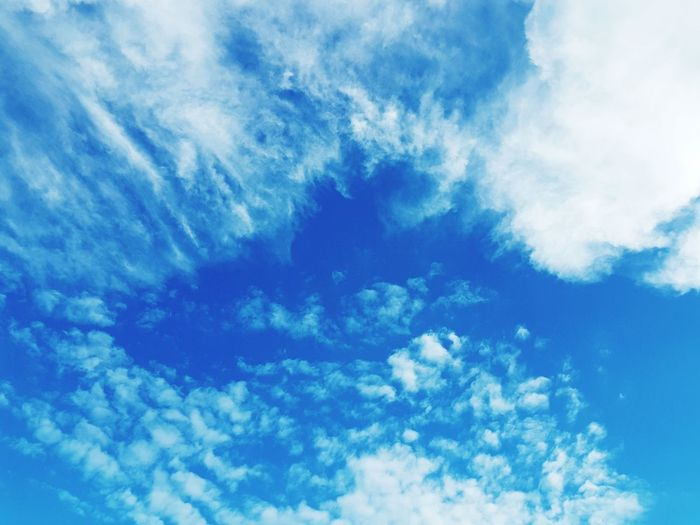 Bright blue mid day sky Background Blue Sky Bright Sky Blue Backgrounds Sky Only Summer Heaven Cloudscape Environment Sky Cloud - Sky