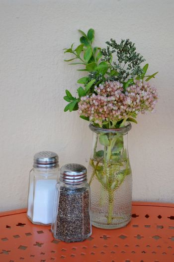 Salt Shaker Salt - Seasoning Flower Vase Table Pepper - Seasoning No People Condiment Healthy Eating Food Day Oregon Ashland, OR Outdoors