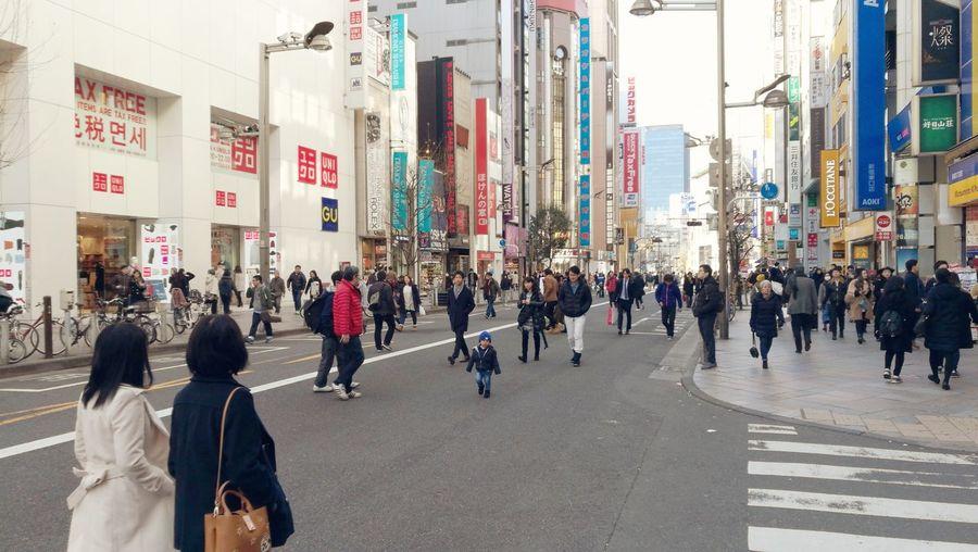 歩行者天国 新宿 Pedestrian heaven in Shinjuku.Large Group Of People Women Men People Built Structure Leisure Activity Day Real People Architecture Outdoors Japan Tokyo Shinjuku City