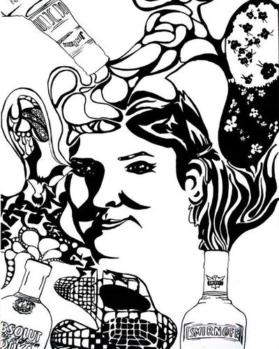 Bottoms up 🍻🍸🍷🍺🍹 Alcohol Portrait Drinking Artofdrawingg Wdfeatures Alcoholic  Cocktails Doodle Blackandwhite Inked Lineart Followme Followforfollow Arts_help Arts Epic Designers Smirnoff Jimbeam Absolutevodka Spirits Hypemyart Arts Helpme Fashion partytime party graphicart tattooart fashionable artspipl