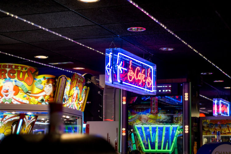 Gambling Games Gaming Sign Coin Operated Gambling Addiction Game Neon Neon Color neon life Neon Lights Neon Sign