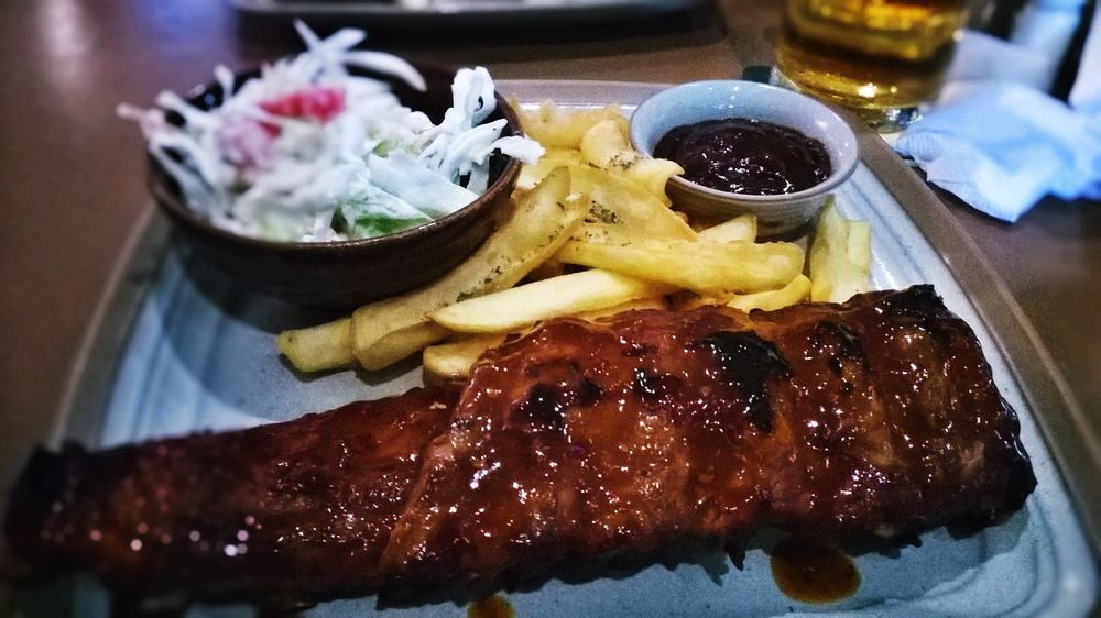 Pork Ribs Barbecue Grill Dinner Time Perfect Dinner :3 Yummy Delicious Show Us Your Takeaway! Visual Feast