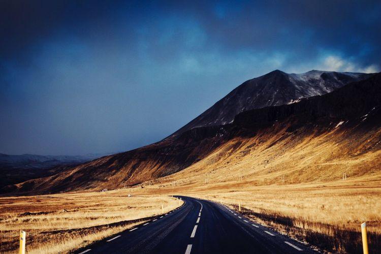 Road passing through mountains