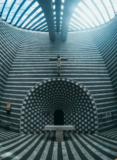 Adult Arch Architecture Built Structure Day Full Length Indoors  Metal One Person Pattern Real People Rear View San Giovanni Battista Staircase Standing Steps And Staircases Transportation Travel Destinations Women