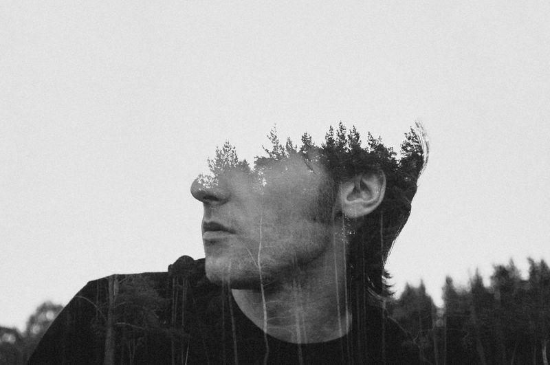 Environmentalist Abstract Blackandwhite Collage Double Exposure Forest HEAD Headshot Linas Was Here Male Model Multiple Exposure Portrait Trees Woods The Creative - 2018 EyeEm Awards The Portraitist - 2018 EyeEm Awards A New Perspective On Life