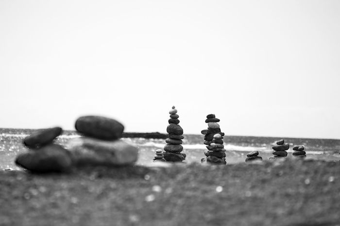 Peace And Quiet Tranquility Clear Sky Day No People Peaceful Sea Sky Stones Stones & Water Stones Composition Stones N Rocks Stonestructures