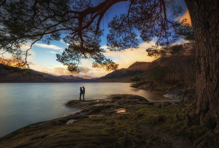 The happy couple Love LochLomond Scotland Enjoying Life EyeEm Best Shots Water Happy People Sunset Relaxing Eye4photography  People And Places
