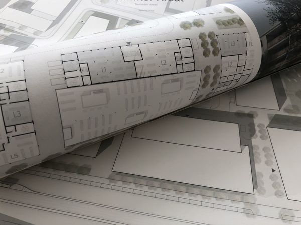 Architecture Architecture_collection Construction Ground Floor Map Paper Roll Plan Sketch Student Tree Wall Built Structure Bulding Close-up Detail Drawing Drawings Layout Level Old Paper Plangrafik Scheme Section University