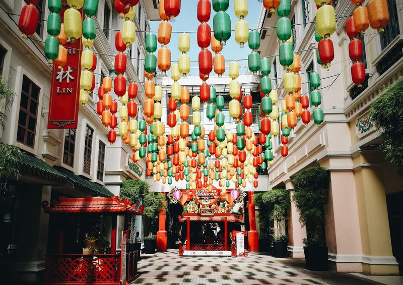 Lucky China Town Hanging Built Structure Architecture Lantern Chinese Lantern Cultures Multi Colored No People Day Building Exterior Chinese Lantern Festival Large Group Of Objects Travel Destinations Chinese New Year Indoors  Huawei HuaweiP9plus Huaweiphotography Architecture Mnlbugs Mobilephotography Oo Cityscape City Outdoors