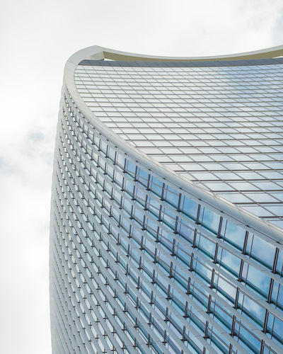 EyeEm Best Shots Architectural Feature Architecture Building Building Exterior Built Structure Ceiling City Close-up Cloud - Sky Day Design Low Angle View Metal Modern Nature No People Office Outdoors Pattern Silver Colored Sky Steel