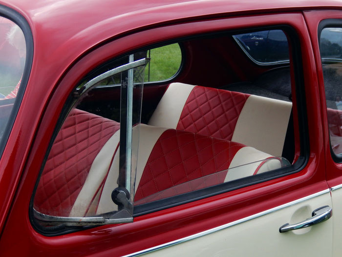 Car Car Door Classic Classic Car Close-up Collector's Car Day Interior Land Vehicle Luxury Mode Of Transport No People Outdoors Red Stationary Transportation Vintage Vintage Car