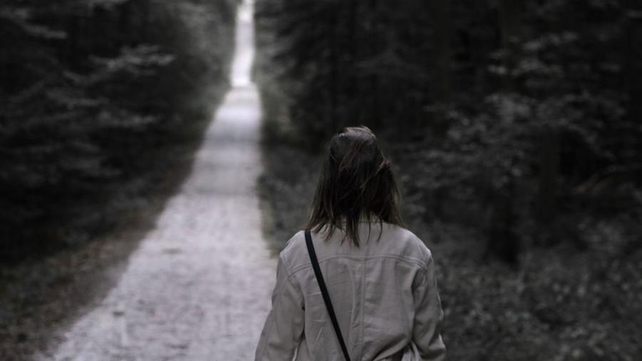 Sad woman - long path to go
