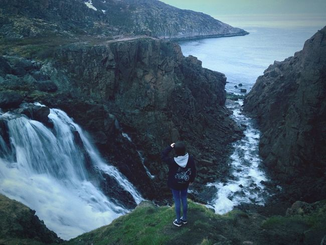 EyeEm First Eyeem Photo Russian Murmansk Teriberka Waterfall Beautiful Photo Edge Of The World Barents Sea Me OpenEdit Sea And Sky Followme Nuture Wonderful Place Photography Follow Me On Instagram Girl