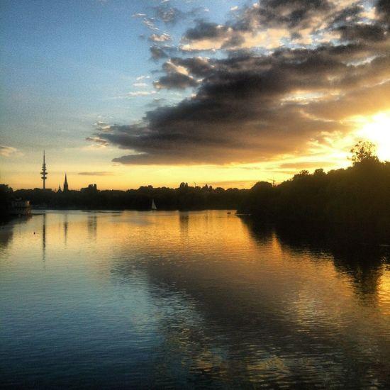 Nofilterneeded Sunset Sky Hamburg Alster