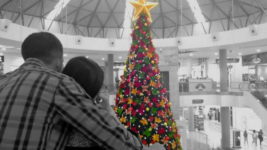Amore Blackandwhite Boy & Girl Celebration Christmas Christmas Tree Color Tree Contrast Day Landscape Love Merry Christmas! Outdoors People Relationship Two People