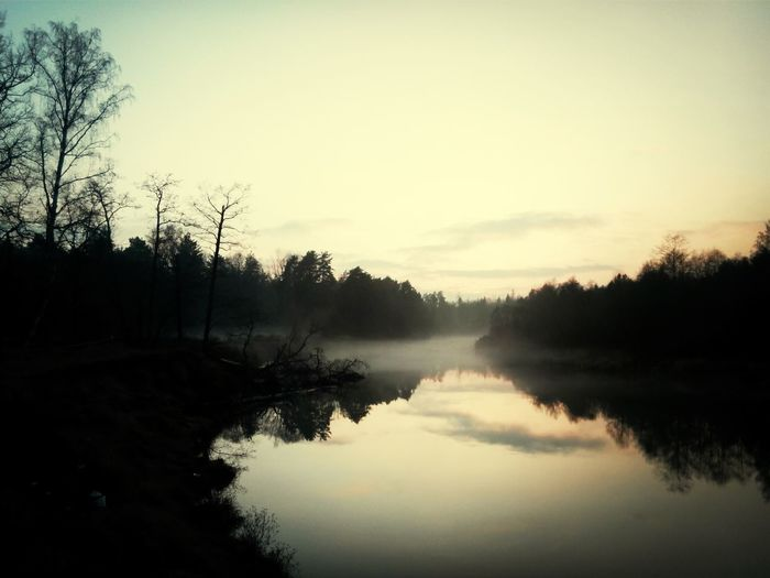 Mist Autumn River Russia