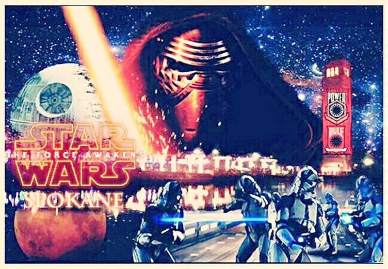 The Force Awakens Spokane... I started this before the premiere but got stuck. but now its finished. Fig, The Force will do what does best, and try and destroy. Great Movie btw. Downtown Spokane Spokane Riverpark Square Star Wars The Force Awakens Photomanipulation