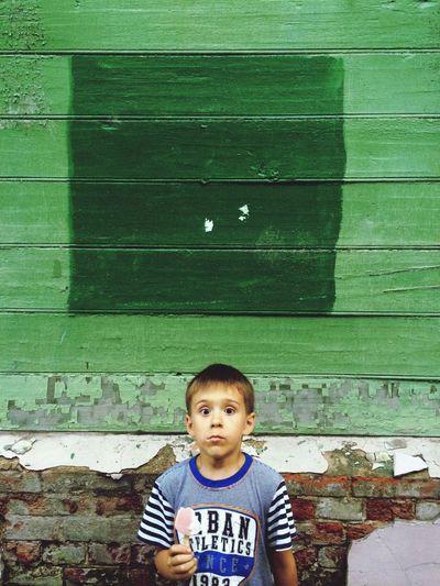 Children Walking Aroundd Russia Khabarovsk