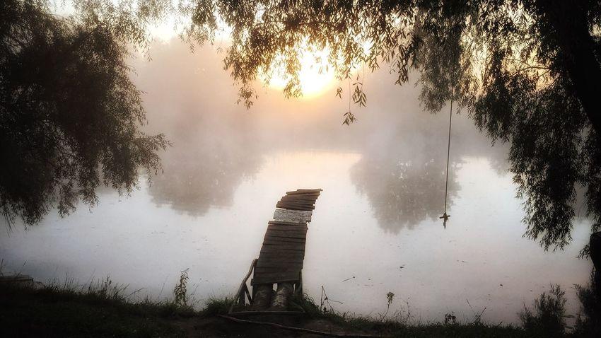утро восход_солнца восход Sunset река туман туман над водой туманноеутро спокойствие First Eyeem Photo