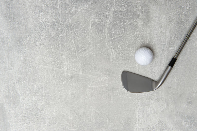 Directly above shot of ball on metal