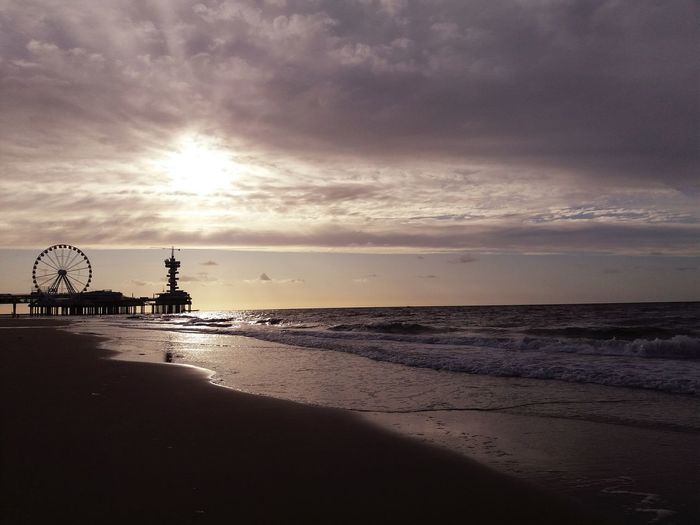 Clouds And Sky Landscape Landscape_Collection Landscape_photography Sunset_collection Netherlands Netherlands Holland Sea And Sky Sea Beach Horizon Over Water Sunset Water Silhouette Sky
