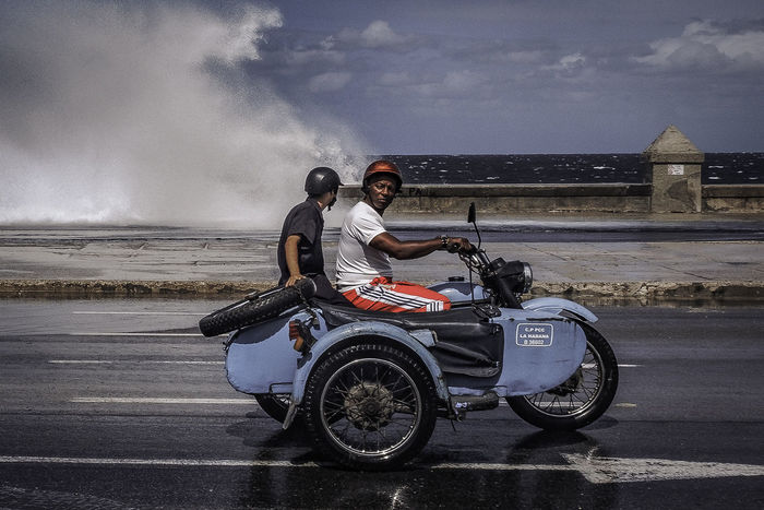 Malecon, Cuba Cuba Cuba Collection Havanna, Cuba Malecon Motorcycle Cuban Life Malecón, La Habana Men Moto Street Photography Streetphotography Transportation Water Waves EyeEmNewHere The Week On EyeEm Editor's Picks An Eye For Travel Mobility In Mega Cities Adventures In The City Focus On The Story The Street Photographer - 2018 EyeEm Awards The Street Photographer - 2018 EyeEm Awards The Traveler - 2018 EyeEm Awards The Street Photographer - 2018 EyeEm Awards