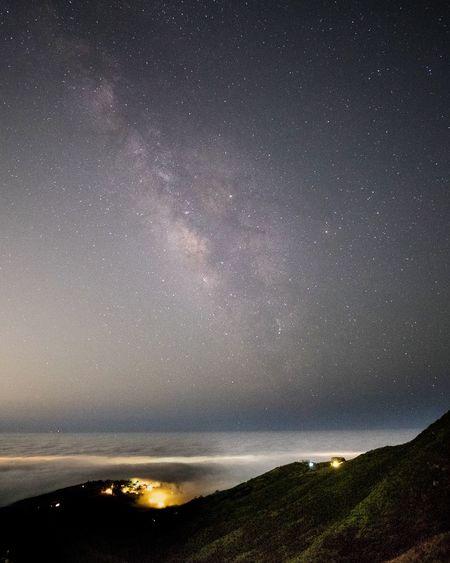 Above the fog in Malibu, CA First Eyeem Photo Milky Way Astrophotography Night Photography Malibu, Califronia Corral Canyon