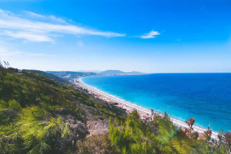 Sea Scenics Landscape Nature Tourism Beauty In Nature Beach Outdoors Vacations Sky Aerial View Water Tranquility Blue Horizon Over Water Summer Cloud - Sky Bestoftheday Eyemphotography Greece Vacation Holiday Nature Naturephotography Photography DSLR